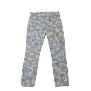J. Crew Factory Floral Print Twill Skinny Jeans